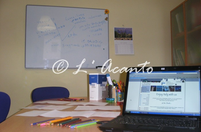 working in the class