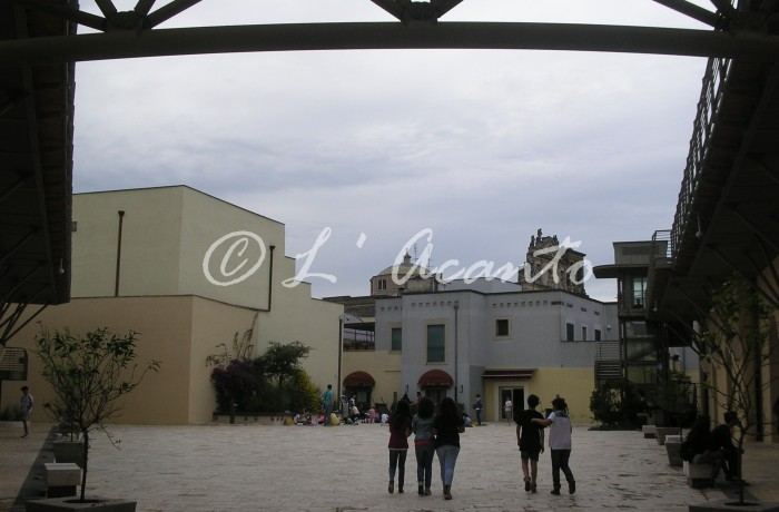 square in front of the School