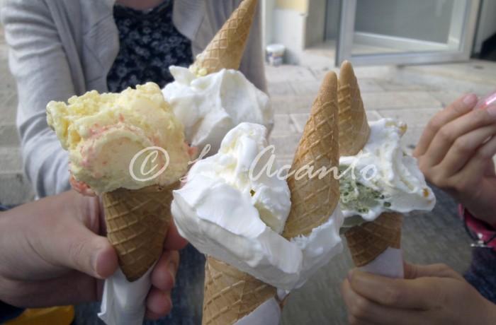 learning Italian and tasting ice cream