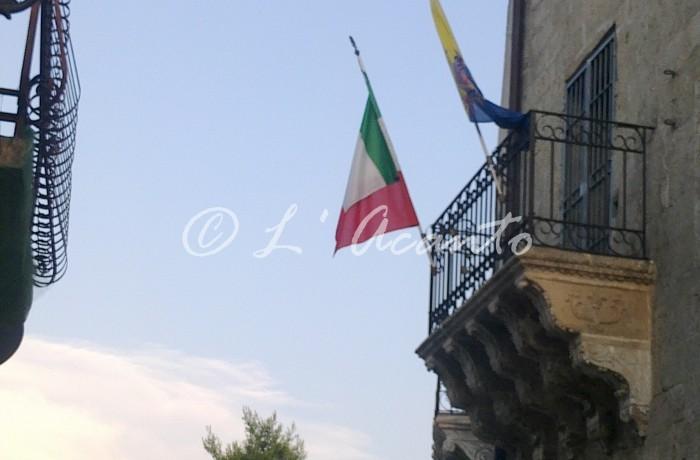 Italian flag on the balcony